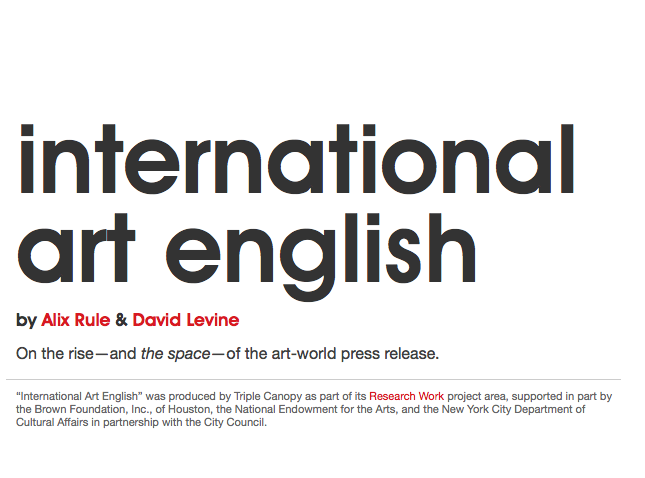 International Art English